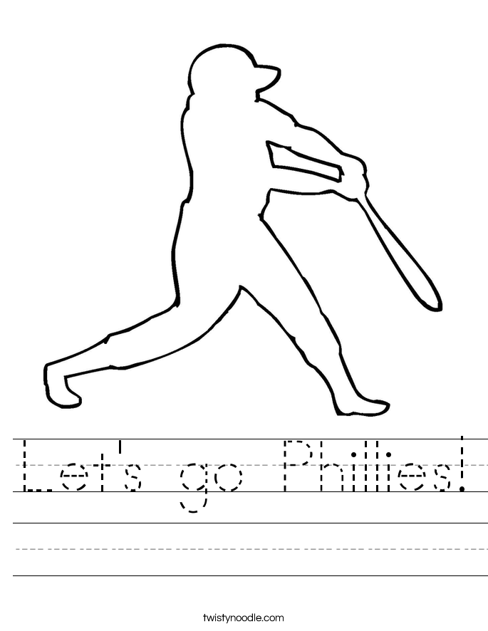 Let's go Phillies! Worksheet