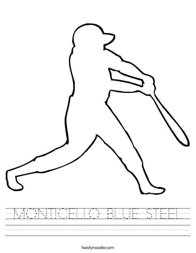 MONTICELLO BLUE STEEL Worksheet