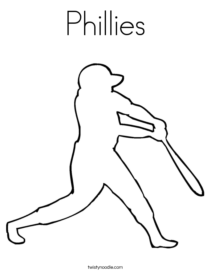 Phillies Coloring Page