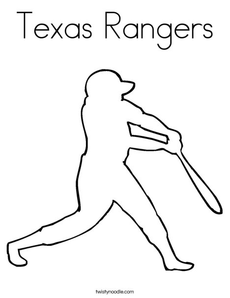 Texas Rangers Coloring Page Twisty Noodle