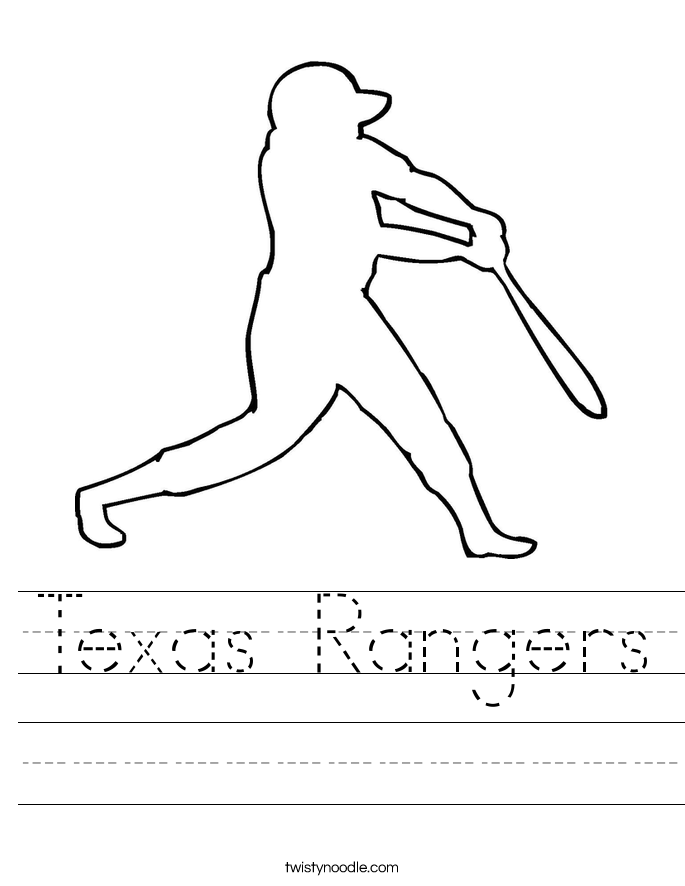 Texas Rangers Worksheet