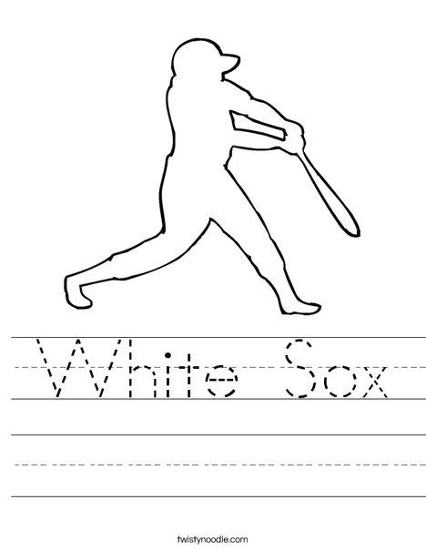 white sox worksheet twisty noodle. Black Bedroom Furniture Sets. Home Design Ideas