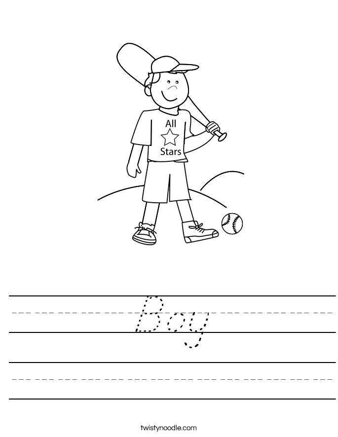 Boy Worksheet