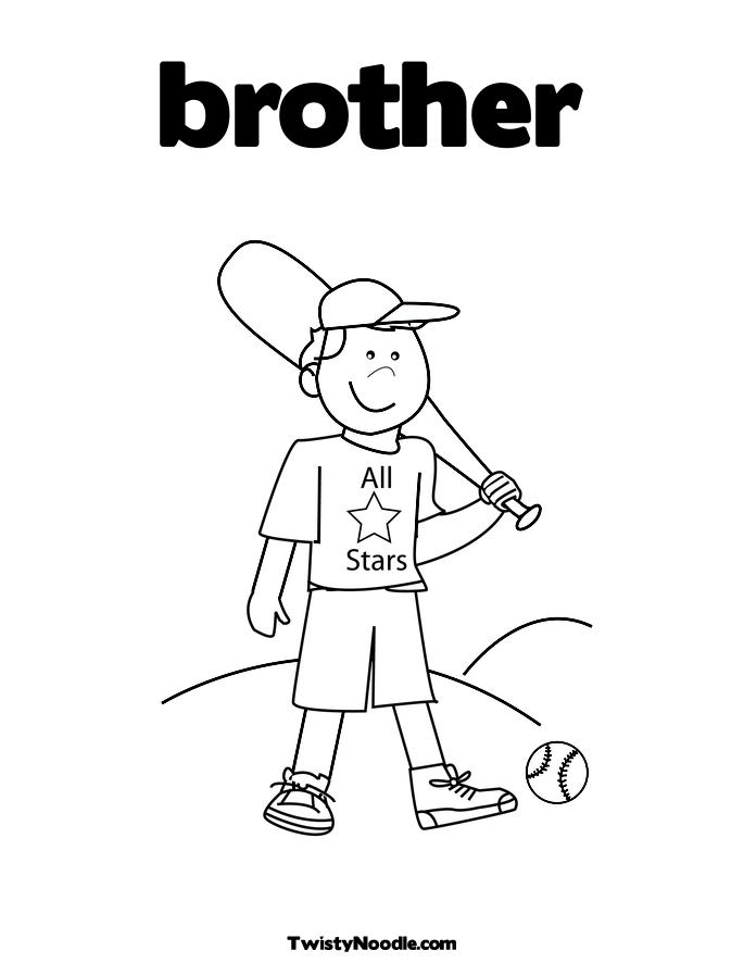 brother coloring pages - photo#2