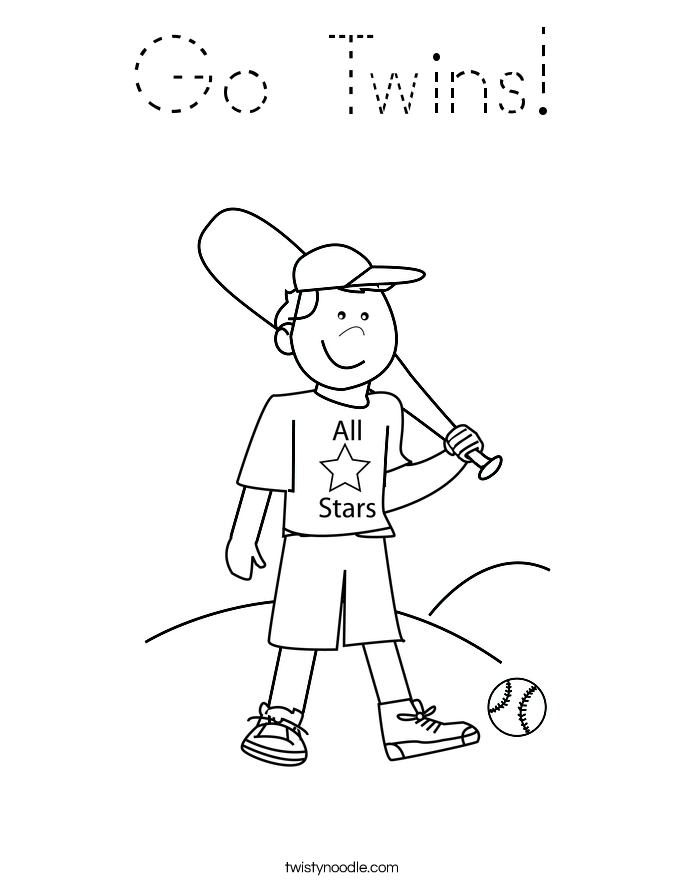 Go Twins! Coloring Page