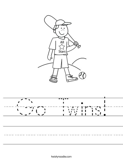 Boy Baseball Player Worksheet