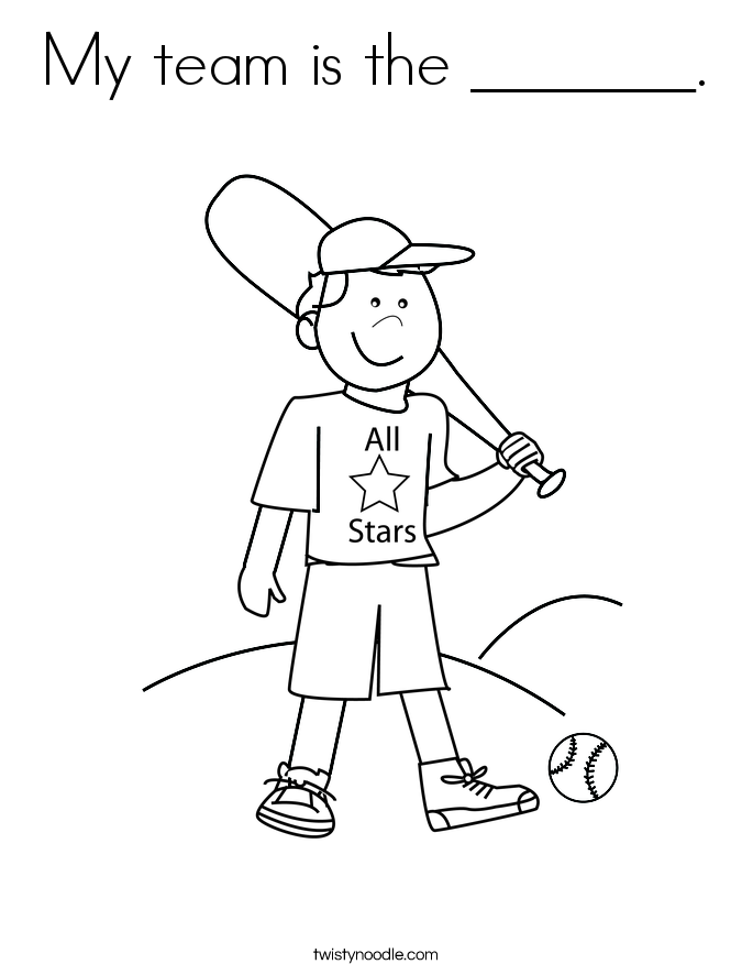 My team is the _______. Coloring Page
