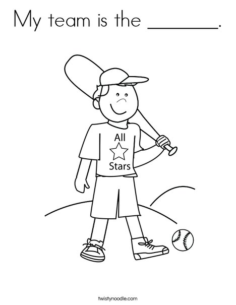 Boy Baseball Player Coloring Page
