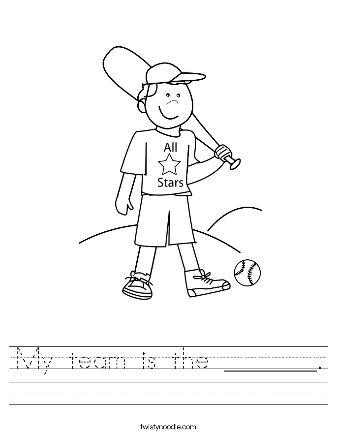 My team is the _______. Worksheet