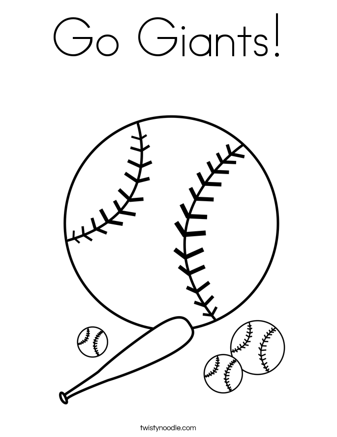 Go Giants! Coloring Page
