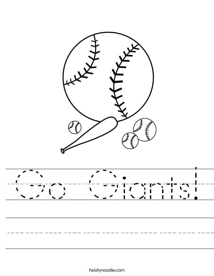 Go Giants! Worksheet