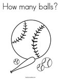 How many balls?Coloring Page