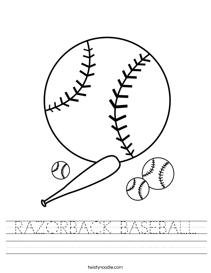 RAZORBACK BASEBALL Worksheet