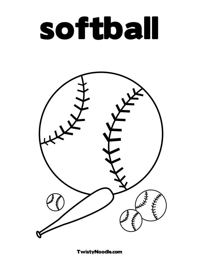 Softball printable coloring pages for Softball coloring pages to print