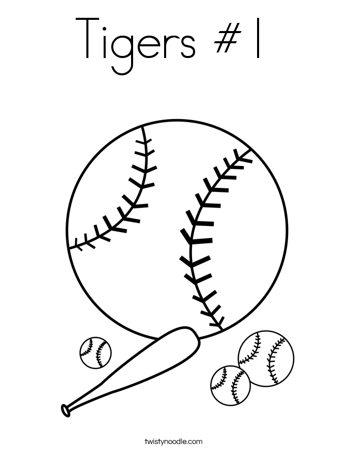 Tigers #1 Coloring Page