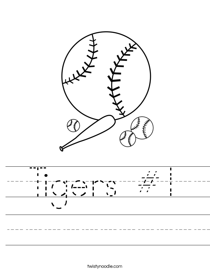 Tigers #1 Worksheet
