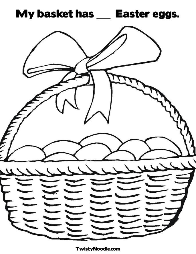 Image Basket Colouring Pages