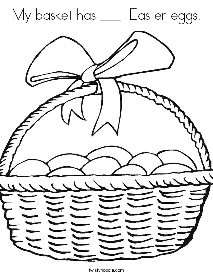 My Basket Has Easter Eggs Coloring Page