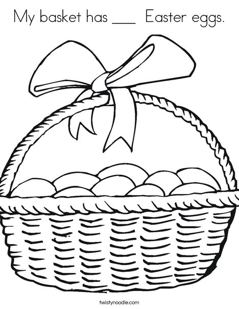 How many eggs? Coloring Page