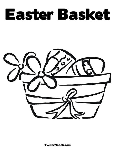 easter eggs in a basket colouring pages. Print Your Coloring Page
