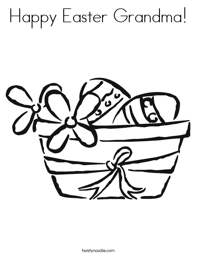 Happy Easter Grandma! Coloring Page