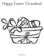 Happy Easter Grandma Coloring Page