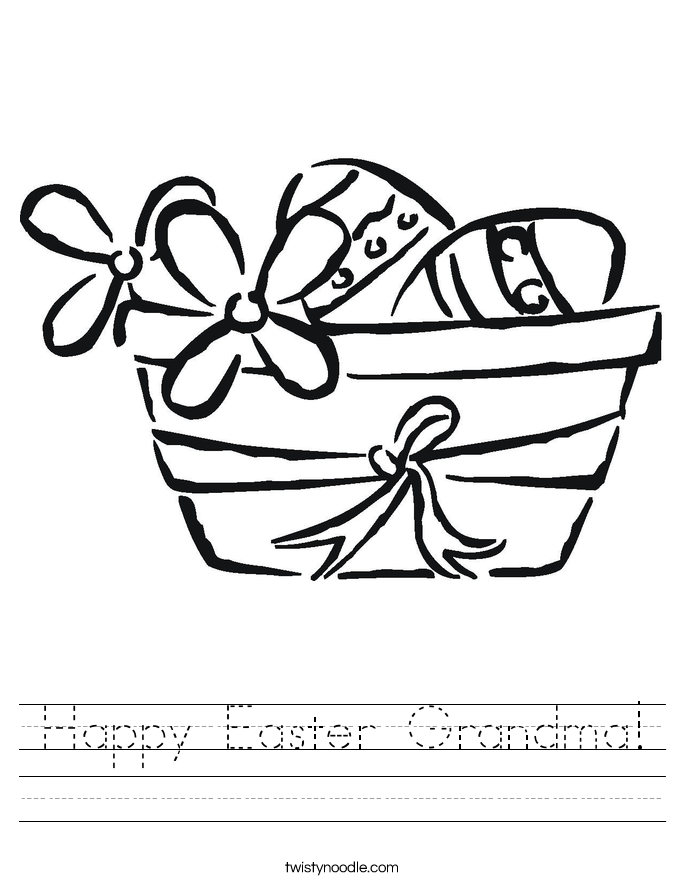 Happy Easter Grandma! Worksheet