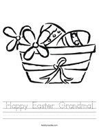 Happy Easter Grandma Handwriting Sheet