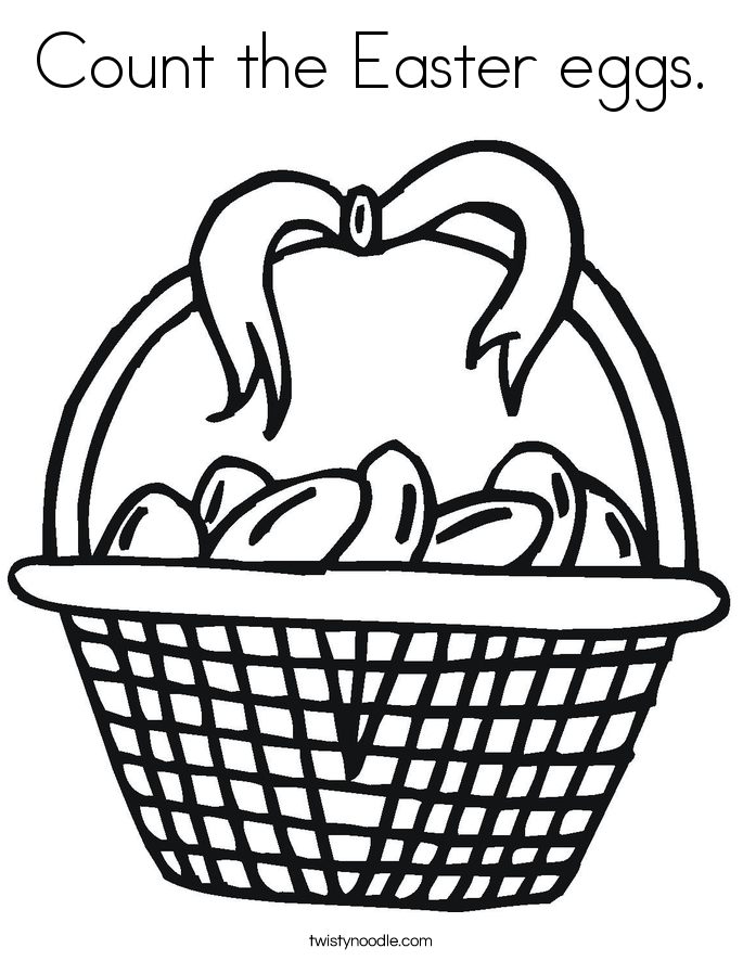 Count the Easter eggs. Coloring Page