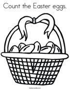 Count the Easter eggs Coloring Page
