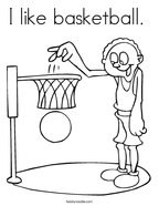 I like basketball  Coloring Page