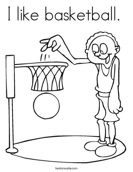 I like basketball Coloring Page - Twisty Noodle