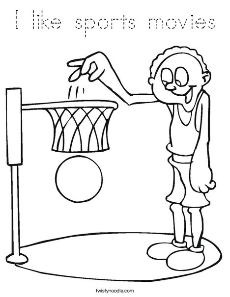 Tall Basketball Player Coloring Page