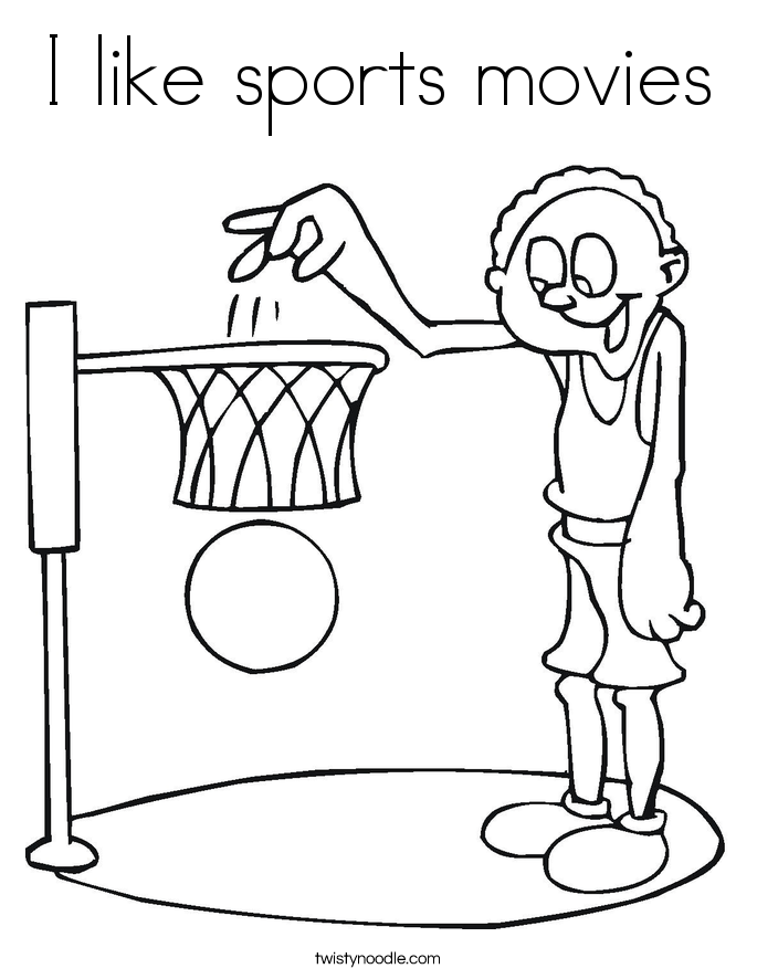 I like sports movies Coloring Page