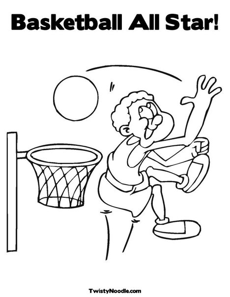 All nba teams free coloring pages for Basketball team coloring pages