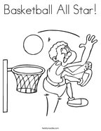 Basketball All Star Coloring Page