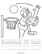 Basketball All Star Handwriting Sheet