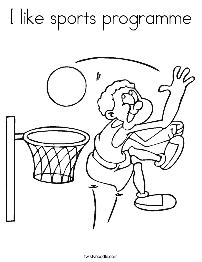 I like sports programme Coloring Page