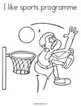 I like sports programmeColoring Page