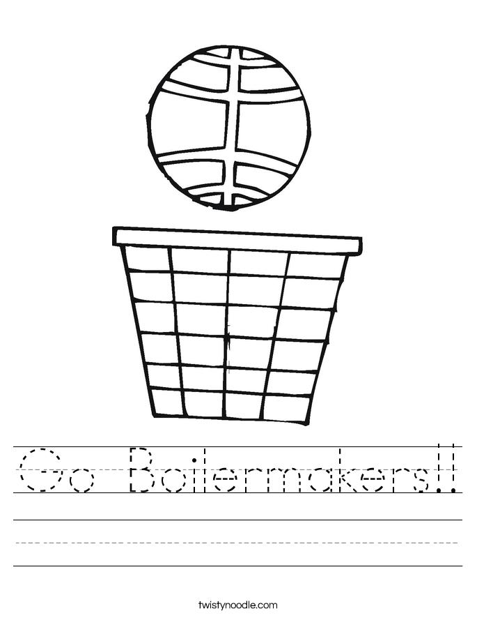 Go Boilermakers!! Worksheet