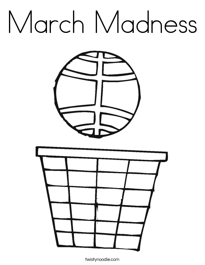 march madness coloring page