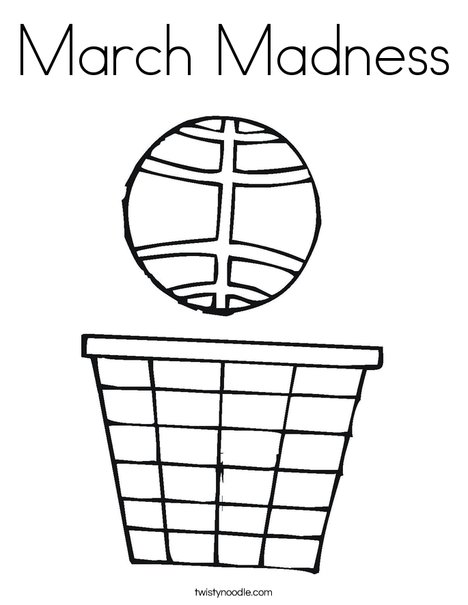 March Madness Coloring Page Twisty Noodle