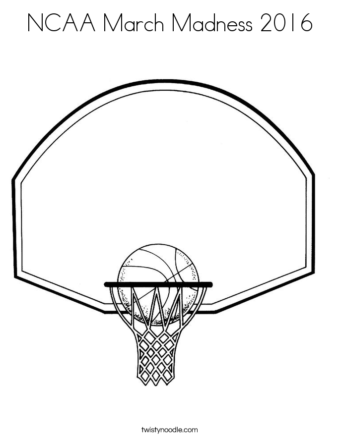 NCAA March Madness 2016 Coloring Page