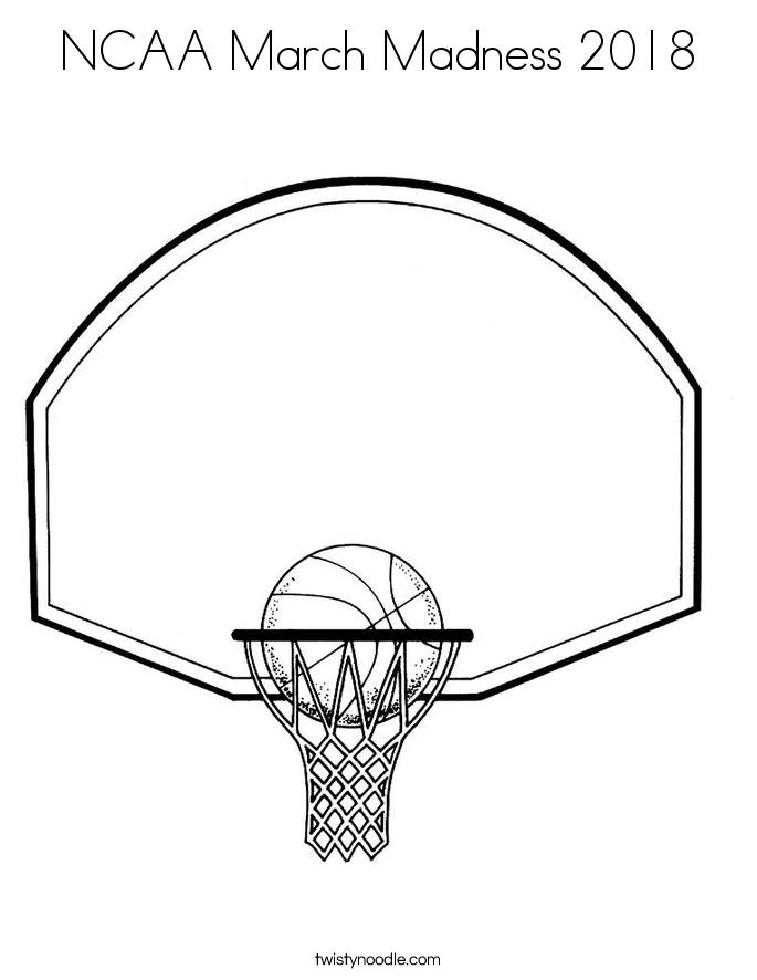 NCAA March Madness 2018 Coloring Page