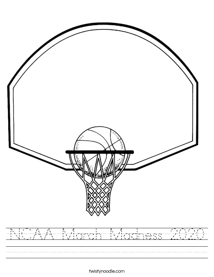 NCAA March Madness 2020 Worksheet