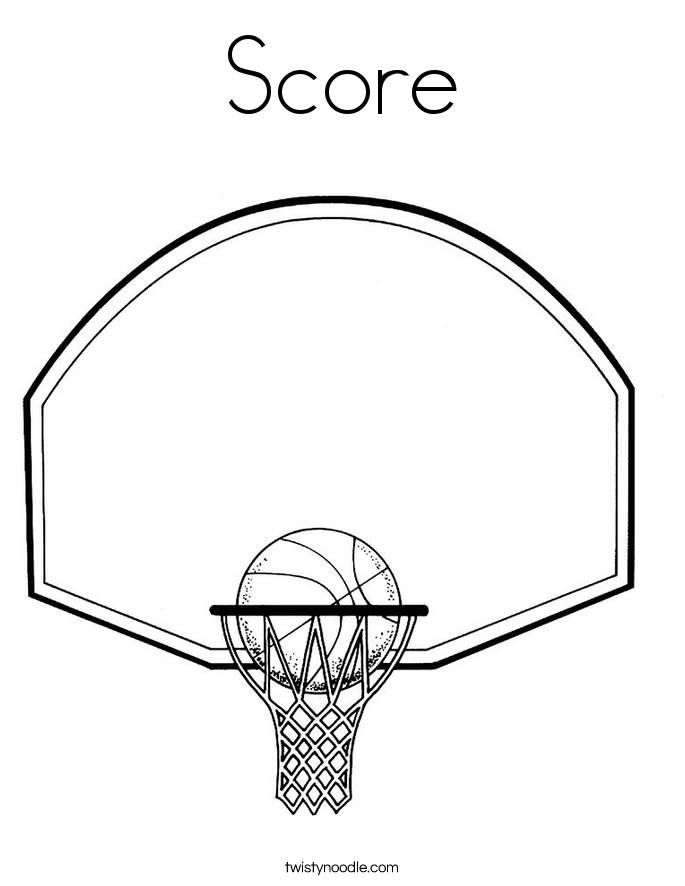 Score Coloring Page