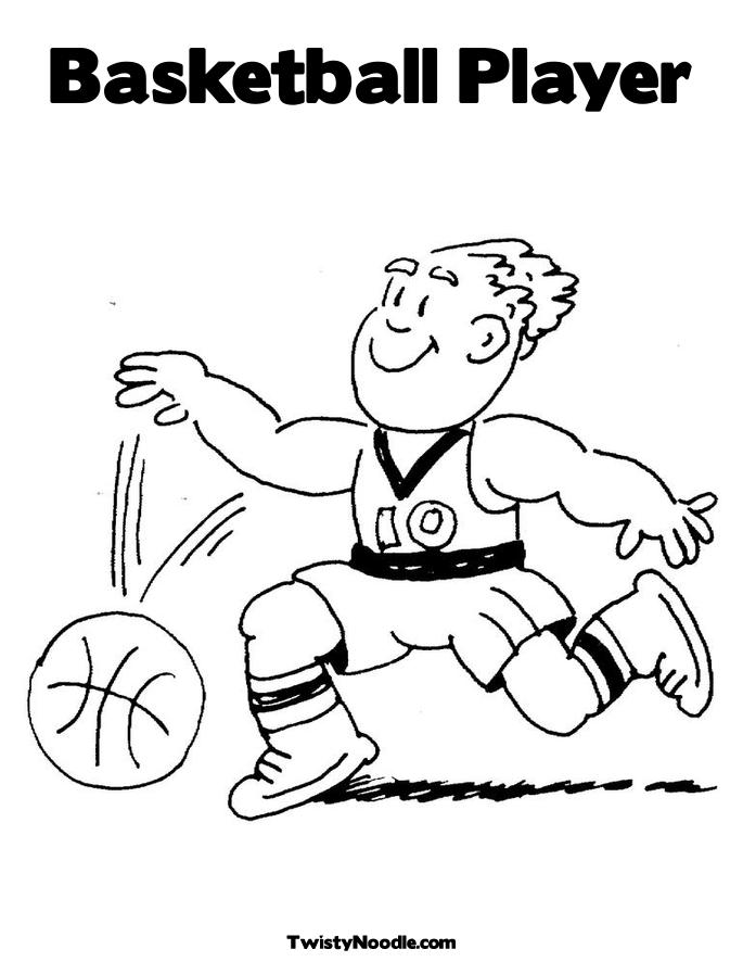 basketball player printable coloring pages - photo#32
