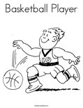 Basketball PlayerColoring Page