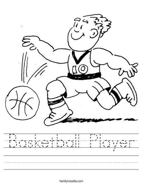 Basketball Player Dribbling Worksheet