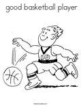 good basketball playerColoring Page